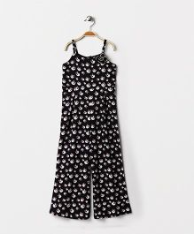Pixi Smart  Full Length Jumpsuit - Black & White