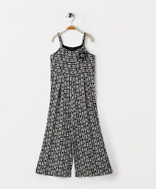 Pixi Full Length Jumpsuit  - Black & White