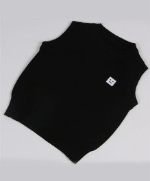 Superfie Sleeveless Sweater - Black