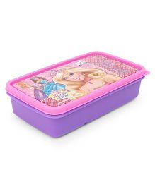 Barbie Lunch Box With 2 In 1 Fork & Spoon - Pink Purple