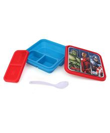Marvel Avengers Lunch Box With 3 Compartments - Red Blue