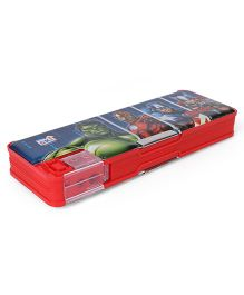 Marvel Avengers Dual Sided Pencil Box With In Built Sharpener - Red