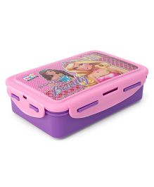 Barbie Lunch Box With Clip Lock Feature - Pink Purple