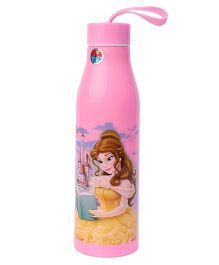 Disney Water Bottle With Beauty & Beast Character Print Pink - 700 ml
