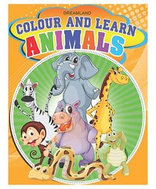 Colour And Learn Animals - English