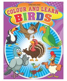 Colour And Learn Birds - English
