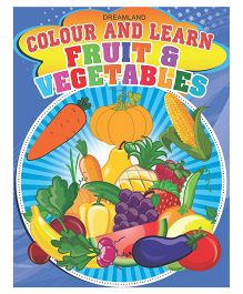 Colour And Learn Fruit & Vegetables - English