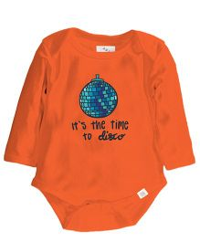 Zeezeezoo It'S The Time To Disco Print Onesie - Orange