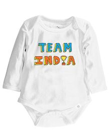 Zeezeezoo Team India Print Onesie - White