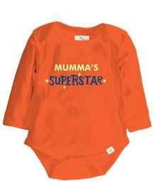 Zeezeezoo Mumma'S Superstar Print Onesie - Orange