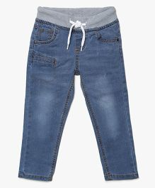 Bella Moda Faded Style Denim - Blue