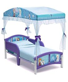 Disney Frozen Canopy Bed - Purple Sky Blue