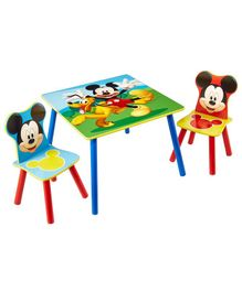 Disney Mickey Mouse Table & Chair Set - Multi Color
