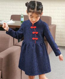 Pre Order - Awabox Beautiful Dress With Collar - Blue