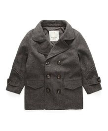 Pre Order - Awabox Buttoned Trench Coat - Gray