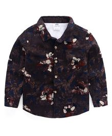 Pre Order - Awabox Floral Shirt - Dark Gray