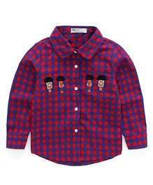 Pre Order - Awabox Man Patch Checked Shirt - Red