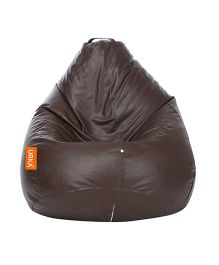Orka Classic Bean Bag Filled With Beans Brown - XL