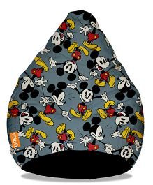 Orka Mickey Mouse Digital Printed Bean Bag Filled With Beans Grey - XL