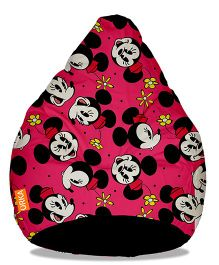 Orka Minnie Mouse Digital Printed Bean Bag Filled With Beans Red - XL