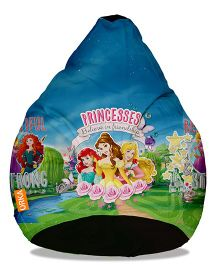 Orka Disney Princess Digital Printed Bean Bag Filled With Beans Multicolour - XL