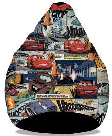 Orka Cars Comics Digital Printed Bean Bag  Cover Multi Color - XL