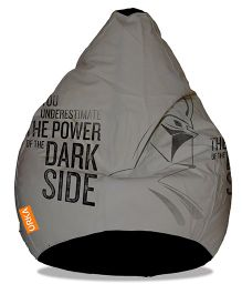 Orka Star Wars Dark Side Digital Printed Bean Bag Cover Grey - XL