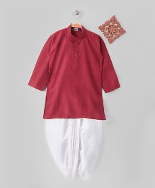 Babyhug Full Sleeves Kurta & Dhoti Set - Red
