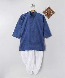 Babyhug Full Sleeves Kurta & Dhoti Set - lue