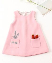 Pre Order - Awabox Bunny And Carrot Print Dress - Pink