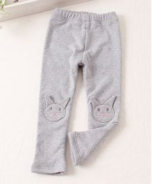 Pre Order - Awabox Meow Print Comfortable Pants - Grey