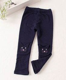 Pre Order - Awabox Meow Print Comfortable Pants - Dark Blue