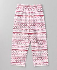 Babyhug Full Length Lounge Pant All Over Print - Pink