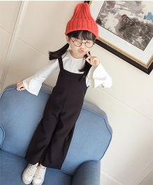 Pre Order - Superfie Solid Colored Dungaree - Black