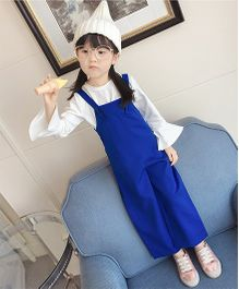 Pre Order - Superfie Solid Colored Dungaree - Blue