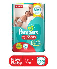 Pampers Pant Style Diapers New Born - 60 Pieces