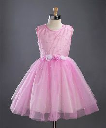 M'PRINCESS Flower Design Party Wear Dress - Pink