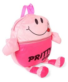 Funzoo Plush School Bag Pink - 13.5 inches