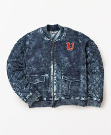 UFO Stylish Full Sleeves Jacket - Indigo Dark