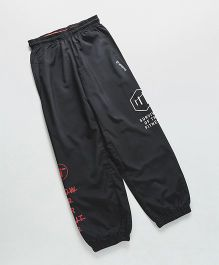 Reebok Full Length Track Pant Text Print - Black