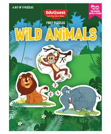 EduQuest Wild Animals Jigsaw Puzzle Pack of 3 - Multi Color