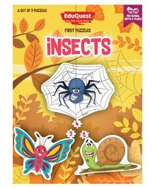 EduQuest Insects Jigsaw Puzzle Pack of 3 - Multi Color