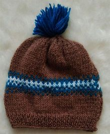 The Original Knit Patterned Cap - Light Brown