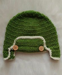 The Original Knit Wooden Button Cap - Green
