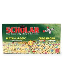 Yash Toys Scholar Math-A Logic & Crossword Game - Green