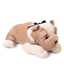 Liviya Bull Dog Soft Toy Brown & Cream - Height 64 cm