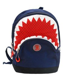 Abracadabra Backpack Triangle Border Design Blue & Red - 11 Inches