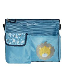 Abracadabra Diaper Bag With Adjustable Shoulder Straps Lion Design - Blue