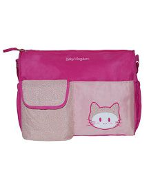 Abracadabra Diaper Bag With Adjustable Shoulder Straps Kitty Design - Pink
