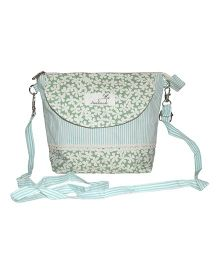 Abracadabra Sling Bag With Adjustable Shoulder Strap Floral Print - Green
